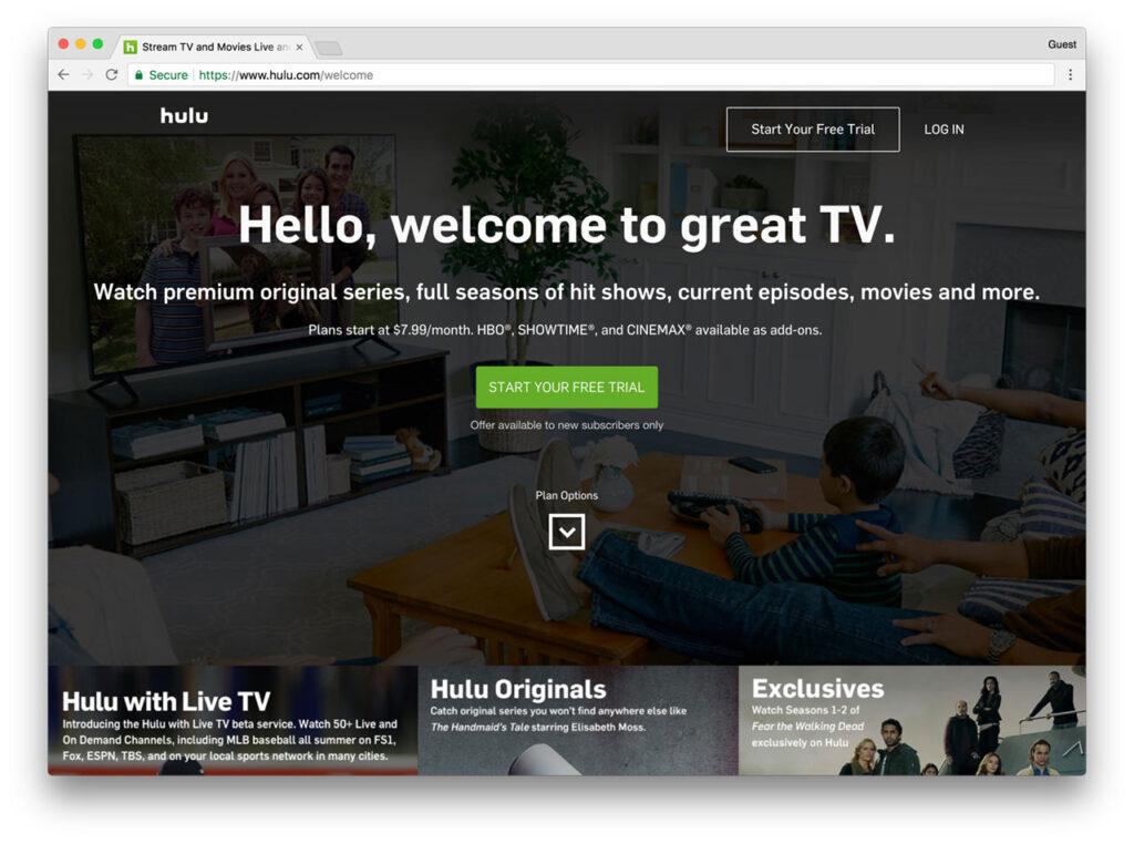 Hulu Screenshot